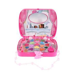 ローズレッド化粧品プレイセットハンドバッグファッション美容メイクアップキット女の子のためのおもちゃ