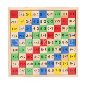 数字ブロック 計算 数学 木製 乗算ボード 数学パズル 学習玩具 知育玩具 教育おもちゃ ギフト
