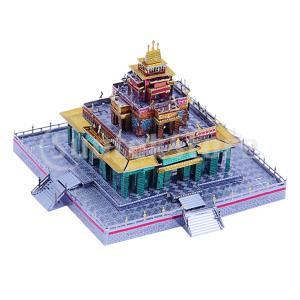 ジグソーパズル 3Dメタルパズル 仏教寺院 モデルキット DIY 子供 手と目の協調 ビルディングア...