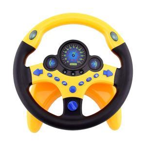子供の子供車のおもちゃの黄色のための基盤が付いているシミュレーションの副操縦士のハンドル|stk-shop