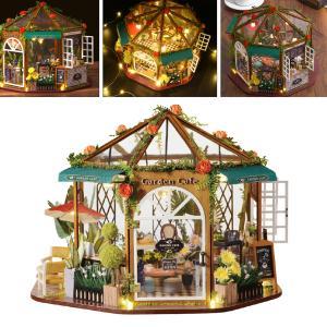 ドールハウスミニチュアdiyハウスキットクリエイティブコーヒーショップ誕生日クリスマスバレンタインのギフト|stk-shop