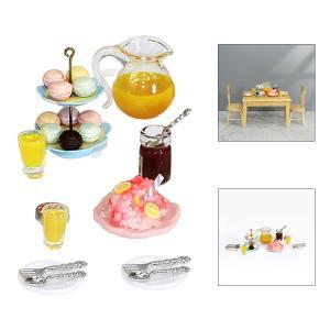 フードデザートティータイムスナックドールハウスキッチンアクセサリー1/12スケールセットC|stk-shop