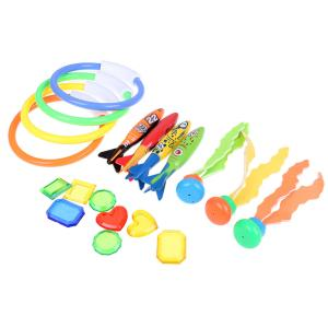 19個水中水泳プールのおもちゃ夏楽しいダイビングゲームのおもちゃはダイビングリング.ダイビング海藻.ダイビング宝物|stk-shop