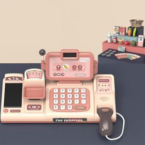 レジは、子供向けのおもちゃのインタラクティブなレジのふりをします。|stk-shop
