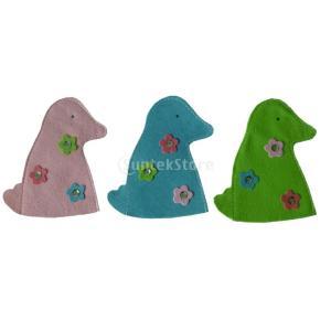 3個 アヒル 卵カバー イースターの日 イースター 家 飾り セット 袋 カバー|stk-shop