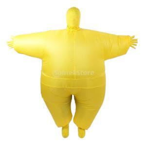 アダルト おもちゃ 衣装 インフレータブル ファンシースーツ コスプレ ボディコスチューム 演出 パーティー 全4色 - 黄