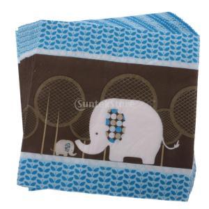 説明: 100%真新しく高品質素敵な象のスタイルのベビーシャワー使い捨て紙ナプキン。 実用的で安全、...