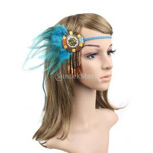説明: 豪華なボヘミアスタイルの編み込みタッセルヘッドバンド、インドのヒッピーヘッドドレス、ドレスキ...