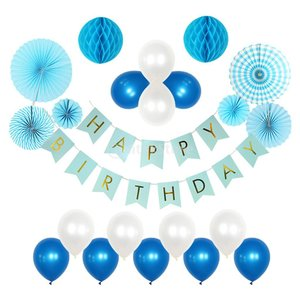 Fenteer 誕生日 バナー ハニカムボール 誕生日 飾り付け  Happy Birthday 誕生日 ガーランド 飾り |stk-shop