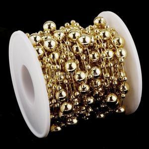 B Blesiya ビーズロール ストリング 人工真珠 ビーズチェーン DIY パーティー 装飾 2色選べ - ゴールド|stk-shop|13