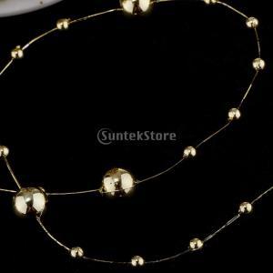 B Blesiya ビーズロール ストリング 人工真珠 ビーズチェーン DIY パーティー 装飾 2色選べ - ゴールド|stk-shop|03