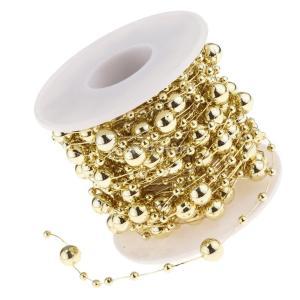 B Blesiya ビーズロール ストリング 人工真珠 ビーズチェーン DIY パーティー 装飾 2色選べ - ゴールド|stk-shop|09