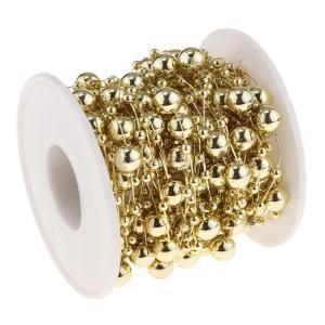 B Blesiya ビーズロール ストリング 人工真珠 ビーズチェーン DIY パーティー 装飾 2色選べ - ゴールド|stk-shop|10