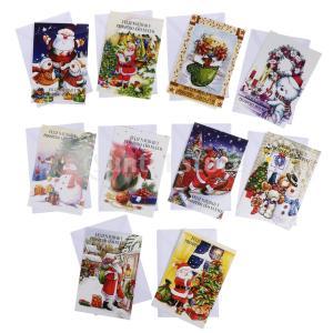 FLAMEER 10枚 封筒付き クリスマス グリーティングカード 招待状 |stk-shop