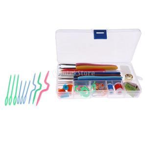 かぎ針編み 56個セット 縫製ツール 編み針 ピン フック針 ニットキット 便利|stk-shop
