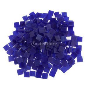 250個 ガラス製 モザイクタイル 芸術用 DIY 工芸品 アクセサリー 12パタン選べ - 濃紺|stk-shop