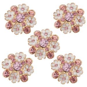 Fenteer 全4種選択可 5枚入りセット 縫製 ラインストーン シャンク ボタン ボタン 衣類 バッグ ヘッドバンド ギフト包装 飾り - タイプ4|stk-shop
