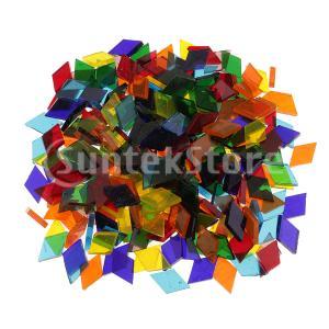 Lovoski 全3タイプ選べる DIY 西洋風 工芸品 約250個 多色 カラフル クリア ガラス モザイクタイル 芸術 手作り  - 菱形|stk-shop