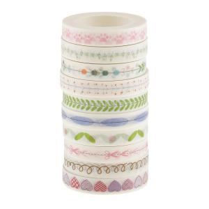 Perfk 和紙マスキングテープ 装飾テープ コラージュ 10個セット|stk-shop