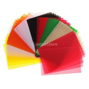 15x10cm 50枚 トレーシングペーパー カードメイキング用 カラフル トレース紙 カラーベラム...