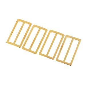 Lovoski メッキバックル 調節可能 バックル アクセサリー 4本セット 全3色選べる - 銀|stk-shop