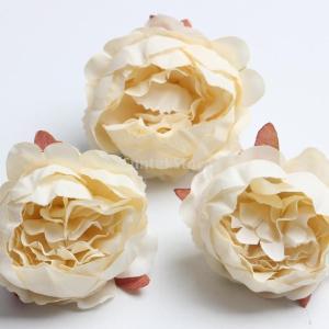 工芸品 10個入り 造花  人工ローズ シルク フラワーヘッド 素材 デコレーション 結婚式 パーティー stk-shop
