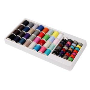 説明:  32色の分類された糸スプールと28の金属製のボビンと糸スレッドセットには、スプールごとに5...
