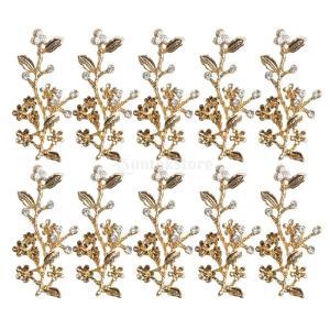 10個 おしゃれ 合金製 植物 葉のデザイン ペンダント 魅力 DIY 金色 デコレーション 全7様式選ぶ - 様式5|stk-shop