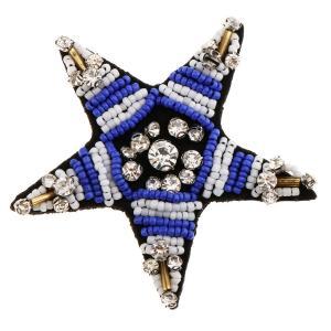Sharplace 星形 ラインストーン ビーズ アップリケ パッチ 刺繍 衣類 装飾 ピカピカ 全4種 - 青|stk-shop