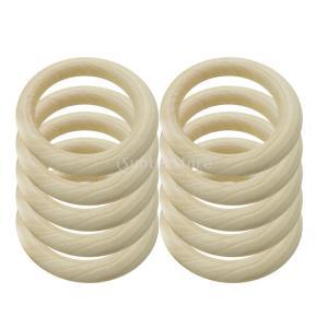 2サイズ選べる 未完成 木製 リング 多機能 ネックレス作り ブレスレット クリスマス 手芸用品 装飾  - ナチュラル(20個入り), 35mm|stk-shop