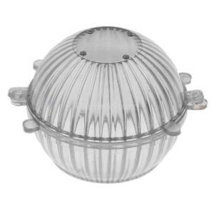 KOZEEY プラスチック 球形 金型 DIY 手作り キャンドル/石鹸 製作 クリア 全3サイズ - 7.6x6.7cm|stk-shop
