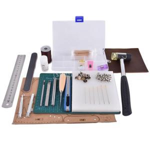 キット カッティングマット レザークラフト A5 ホールパンチ ニードル リベットパンチ  DIYツール 初心者適応     |stk-shop