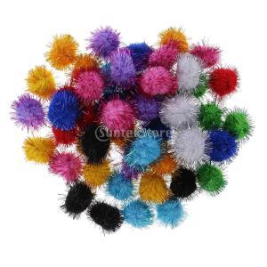 ポンポン ボール 約50個入り キラキラ  DIY手芸 飾り物|stk-shop