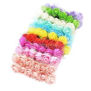 Fenteer 人工造花 花嫁飾り バラ 頭の花 混合 約120入り 結婚式 約120入り|stk-shop