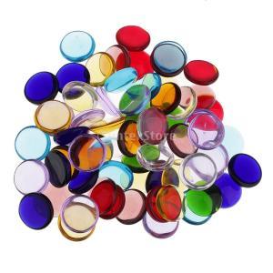 ホビー用工具 ガラス モザイクタイル 丸い 子供工芸品 カラフル 約140個入り|stk-shop