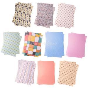 装飾紙 贈り物 背景紙 フォトフレームの装飾 約50枚入り 全3サイズ - 17.3cm x 24.5cm|stk-shop