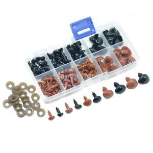 さし鼻 動物鼻  DIY工芸品 ドールメイキング プラスチックノーズ クラフト 約100個