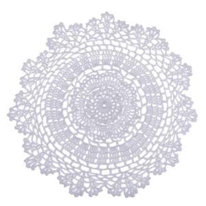 テーブルプレイスマット かぎ針編み コットン ホームデコレーション 白い 全2サイズ - 30cm|stk-shop