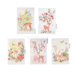 インデックス 仕切カード プラスチック プランナー ノート エレガント 5個入り 全4スタイル - スタイル1|stk-shop