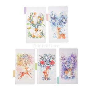 インデックス 仕切カード プラスチック プランナー ノート エレガント 5個入り 全4スタイル - スタイル2|stk-shop