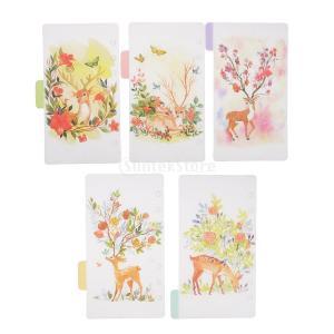 インデックス 仕切カード プラスチック プランナー ノート エレガント 5個入り 全4スタイル - スタイル4|stk-shop