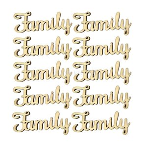 Fenteer アルファベット Family 木片 ブランク ギフト 10個入り|stk-shop