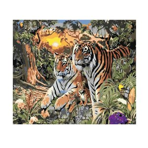 Fenteer デジタル油絵 数字キット塗り絵 ホームデコレーション 全9種類 - 種類3