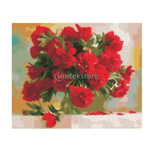 Fenteer デジタル油絵 数字キット塗り絵 ホームデコレーション 全9種類 - 種類6