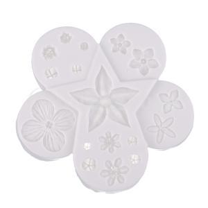 UVレジン型 シリコンモールド レジン型 レジン道具 工芸金型  DIY モールド 3D 花型|stk-shop