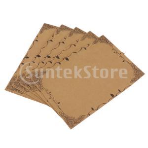 行Bと40枚のヴィンテージの書く文房具の紙文字セットクラフト紙
