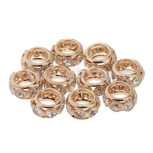 10pcs Crystal Spacer Bead Fashion Loose Beads for ...