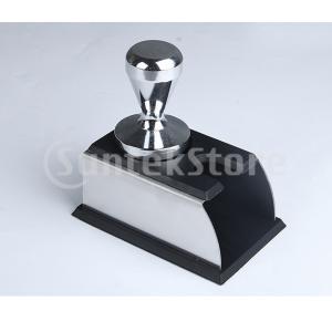 Dovewill コーヒータンパー用ステンレスベース コーヒーを押す シリコーン 滑り止め 2色選べ - ブラック, 6.5cm stk-shop
