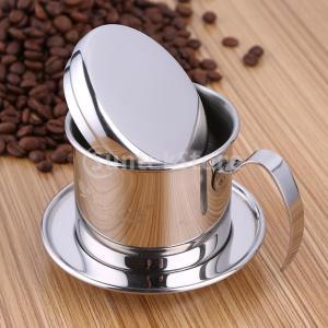 Dovewill ステンレス鋼 コーヒーフィルター ドリップカップ コーヒー用品 実用 伝統的|stk-shop