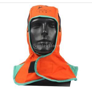 全2色 安全 溶接面 保護具 頭巾 溶接ネック 保護フード ヘルメット用溶接頭巾 溶接ヘッドカバー 難燃性 洗濯可能  - オレンジ|stk-shop
